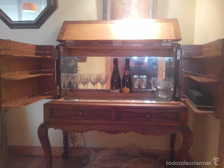 Mueble bar madera noble a os 60 comprar muebles vintage en todocoleccion 57146595 - Muebles anos 60 ...