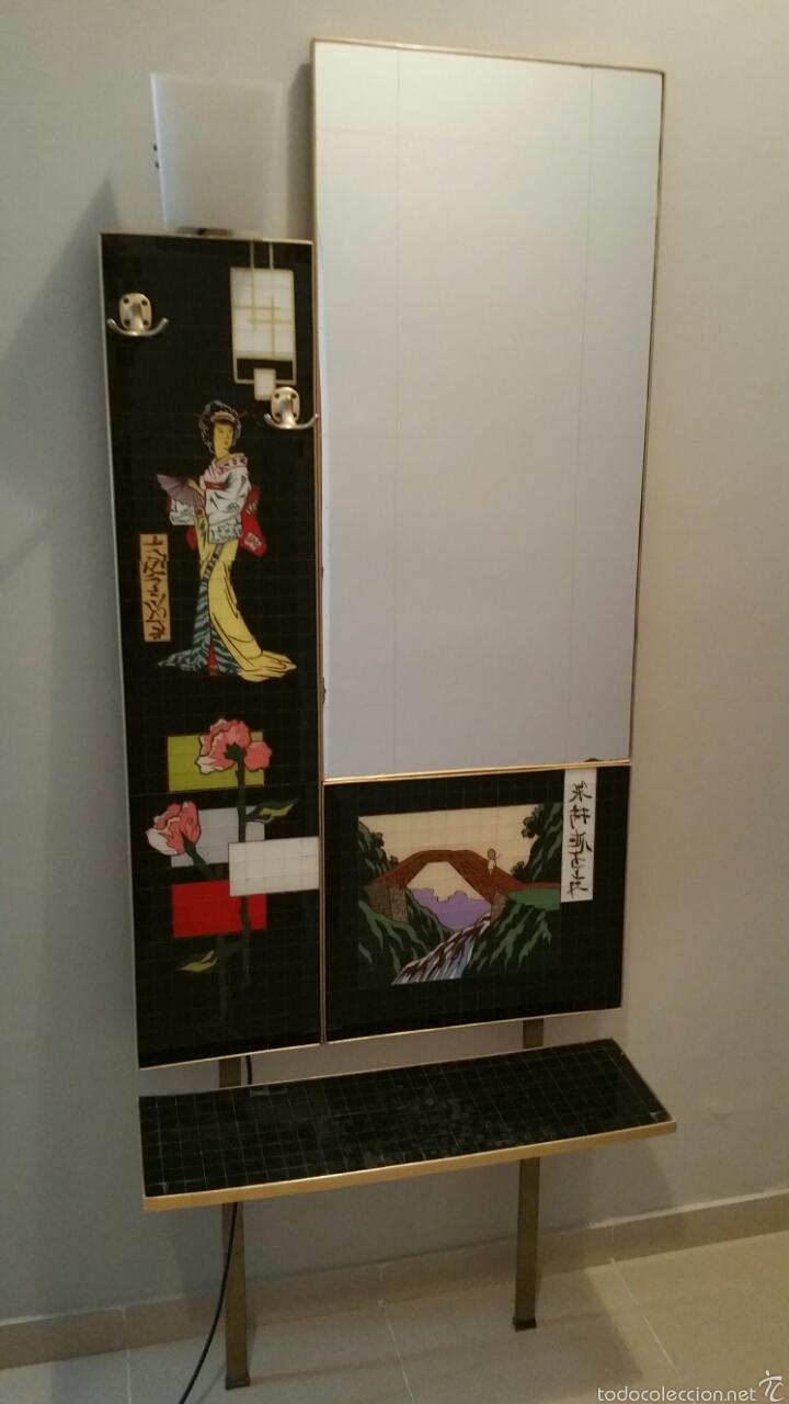Recibidor espejo mosaico dibujos orientales a o comprar for Muebles orientales online