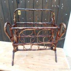 Vintage: REVISTERO DE BAMBÚ. Lote 54547460