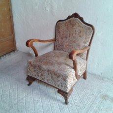 Vintage: SILLÓN DESCALZADOR ANTIGUO, DESCALZADORA ANTIGUA, BUTACA RETRO VINTAGE, AÑOS 40.. Lote 98120444