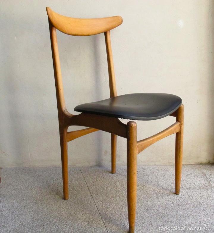 Silla danesa n rdica escandinava vintage a os 6 comprar muebles vintage en todocoleccion - Mueble anos 50 ...
