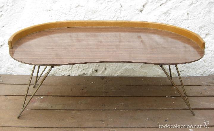 Mueble vintage bandeja plegable de cama midcent comprar for Diseno de muebles de hierro