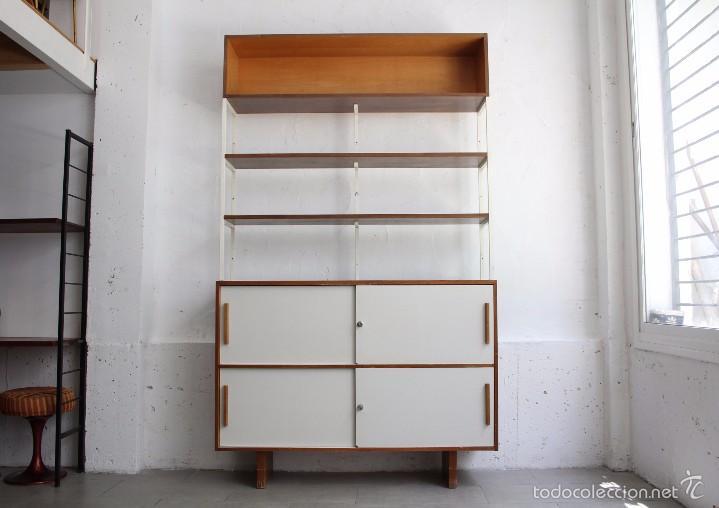 mueble aparador estantera librera formica aos 70 vintage muebles - Estanteria Libreria