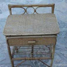 Vintage: ANTIGUA MESILLA DE MIMBRE.. Lote 57847234