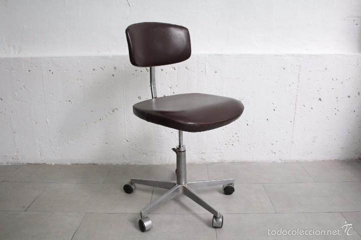 silla giratoria de ruedas. skay marrón. industr - Comprar Muebles ...