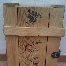 Vintage: CAJA VINO EN MADERA COMPLETA CON TAPA. Lote 57916817