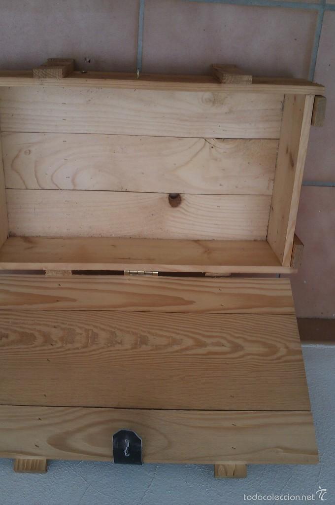 Vintage: caja vino en madera completa con tapa - Foto 2 - 57916817