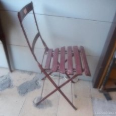 Vintage: FANTASTICA SILLA DE HIERRO FORJADO PARA EXTERIOR O INTERIOR MUY BUEN ESTADO PLEGABLE. Lote 57924920