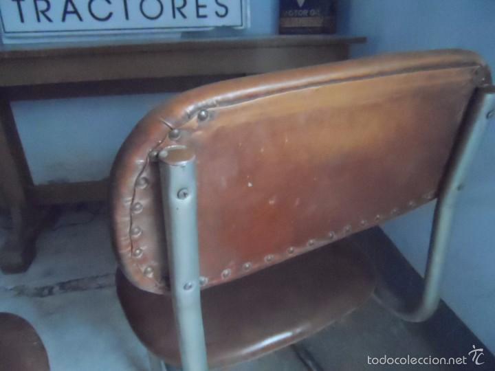 Vintage: SILLA METAL DISEÑO cesca ? TAPIZADO POLIPIEL MARRON LOTE DE 2 sillas - Foto 6 - 84539318