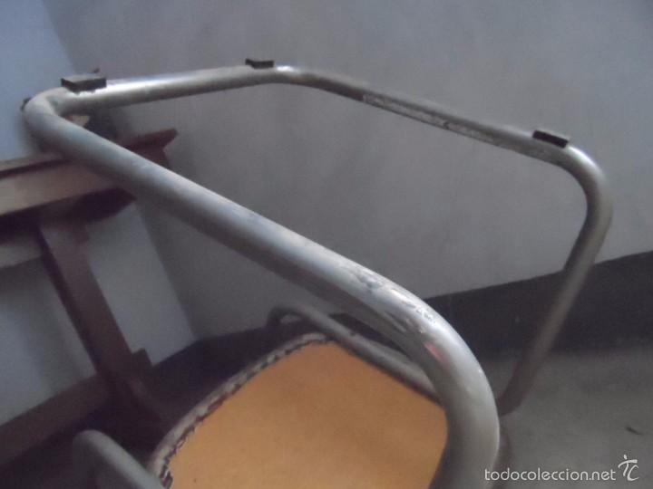 Vintage: SILLA METAL DISEÑO cesca ? TAPIZADO POLIPIEL MARRON LOTE DE 2 sillas - Foto 8 - 84539318