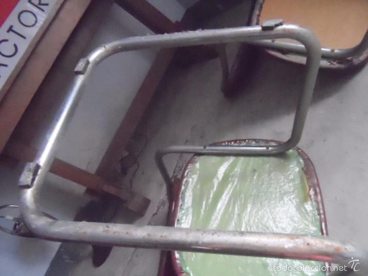 Vintage: SILLA METAL DISEÑO cesca ? TAPIZADO POLIPIEL MARRON LOTE DE 2 sillas - Foto 9 - 84539318