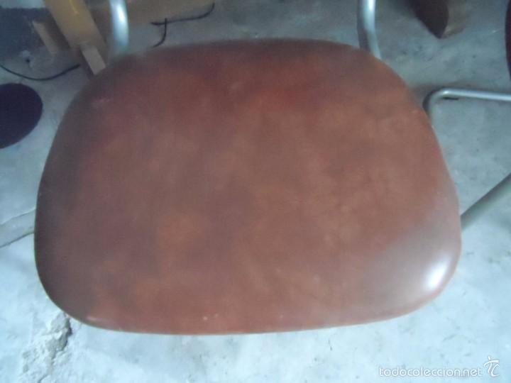Vintage: SILLA METAL DISEÑO cesca ? TAPIZADO POLIPIEL MARRON LOTE DE 2 sillas - Foto 13 - 84539318
