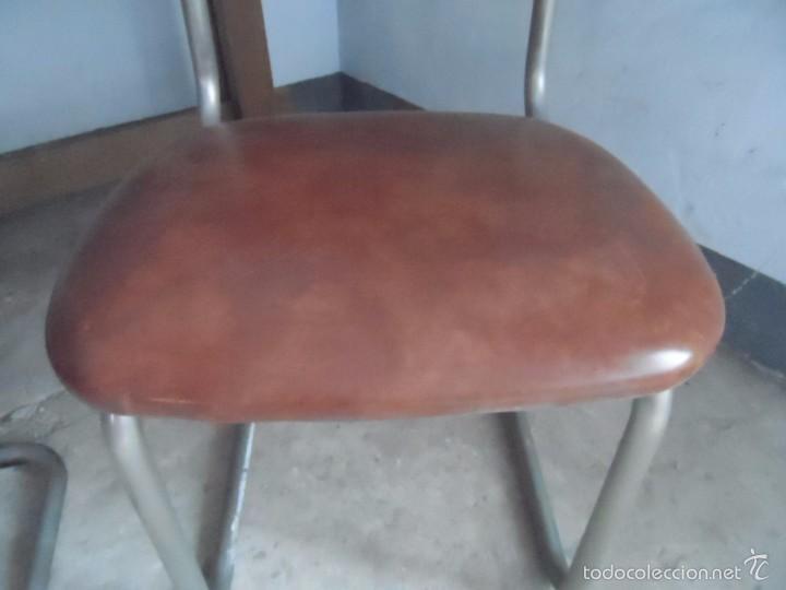 Vintage: SILLA METAL DISEÑO cesca ? TAPIZADO POLIPIEL MARRON LOTE DE 2 sillas - Foto 14 - 84539318