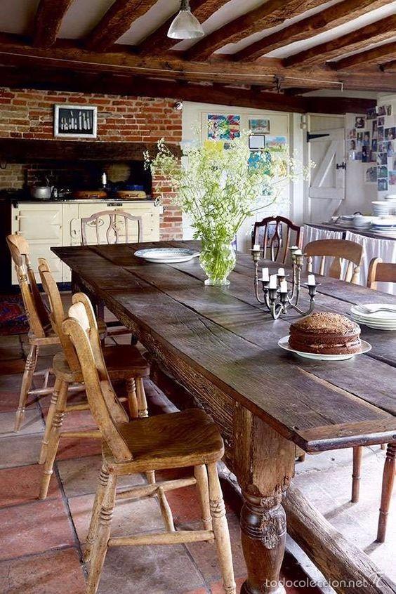 mesa de comedor rustica retro - Comprar Muebles vintage en ...