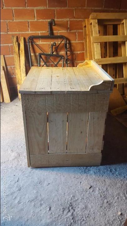 Mueble rustico de ba o para lavabo retro comprar muebles for Mueble lavabo rustico