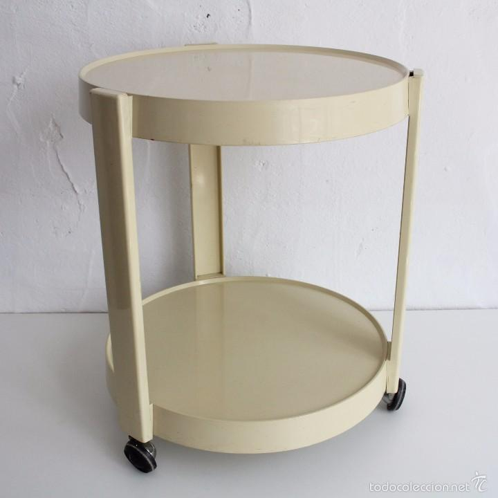 Carrito mesita auxiliar camarera de pl stico a comprar muebles vintage en todocoleccion - Carrito camarera vintage ...