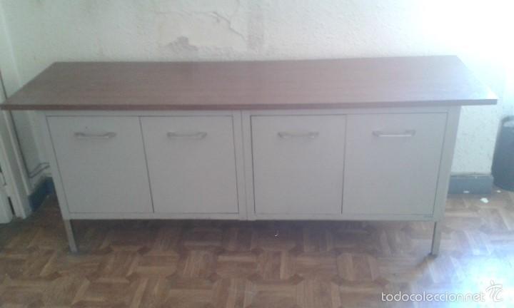 Aparador bajo met lico comprar muebles vintage en todocoleccion 58633997 - Aparador bajo ...