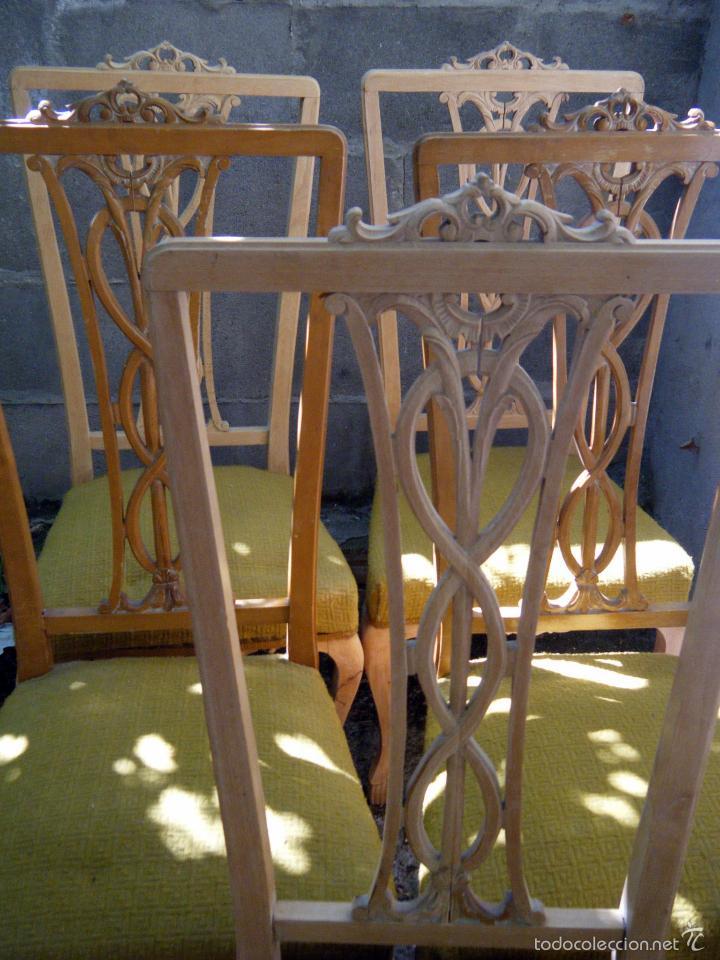 Lote 5 sillas a os 60 para restaurar comprar muebles - Sillas anos 60 ...