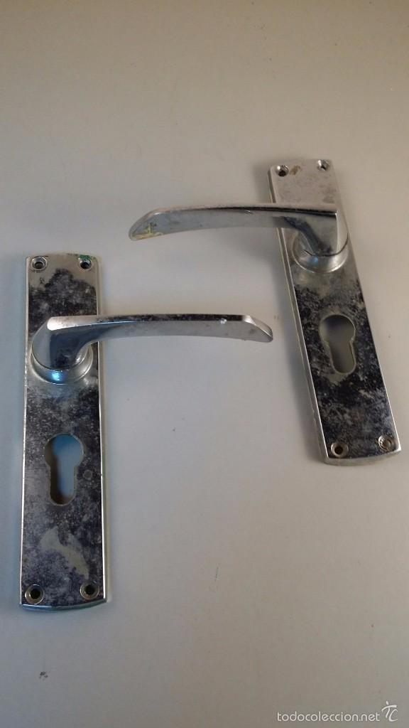 Antigua pareja de manillas de aluminio para pue comprar - Manillas para muebles ...
