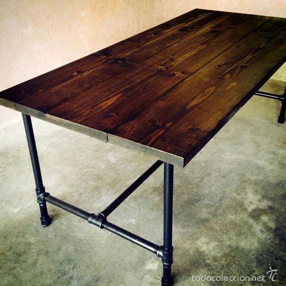 mesa comedor estilo industrial retro - Comprar Muebles vintage en ...