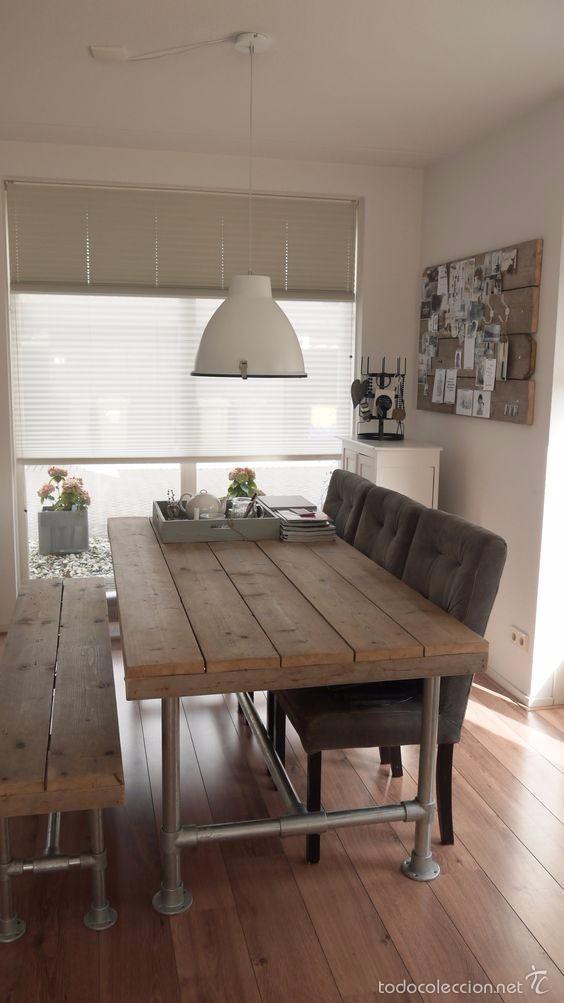 Mesa Comedor Estilo Industrial Retro Comprar Muebles