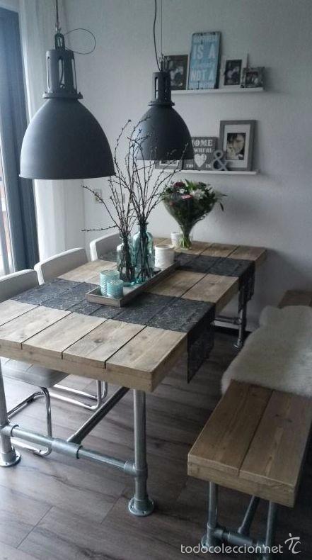Mesa comedor estilo industrial retro comprar muebles for Donde comprar ruedas estilo industrial