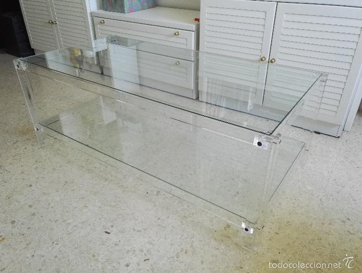 Mesas de dise o metacrilato y cristal comprar muebles vintage en todocoleccion 59961146 - Mesa centro metacrilato ...