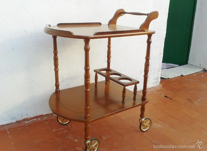 Camarera antigua vintage licorera antigua vint comprar muebles vintage en todocoleccion - Carrito camarera vintage ...
