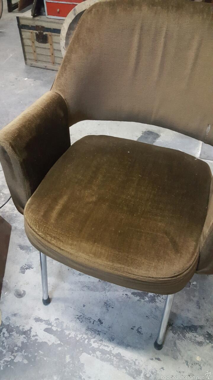 Vintage: Silla de oficina vintage, tapizado marrón. 1960s-1970s - Foto 3 - 60965409