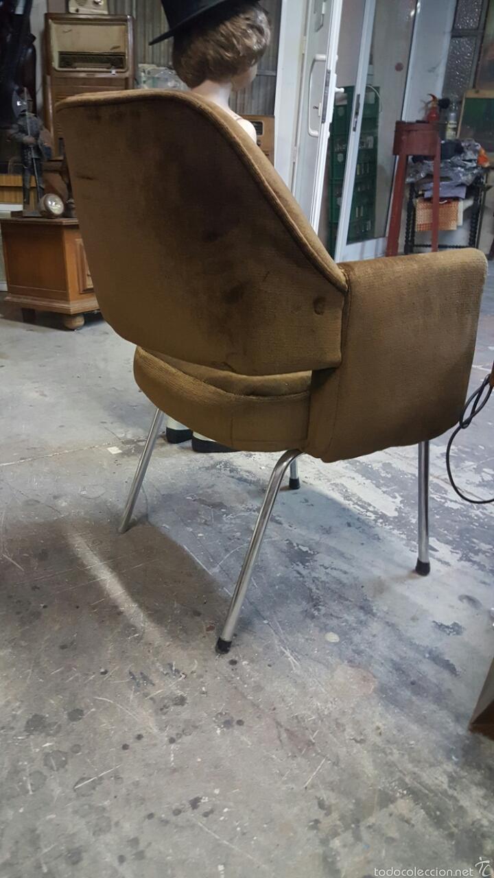 Vintage: Silla de oficina vintage, tapizado marrón. 1960s-1970s - Foto 4 - 60965409