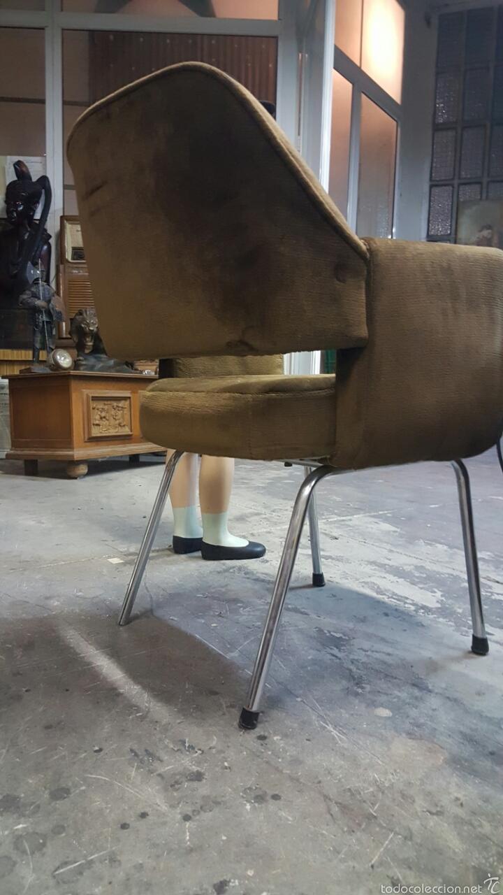 Vintage: Silla de oficina vintage, tapizado marrón. 1960s-1970s - Foto 5 - 60965409