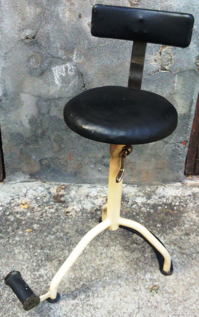 silla - taburete dentista original años 50 - comprar muebles vintage