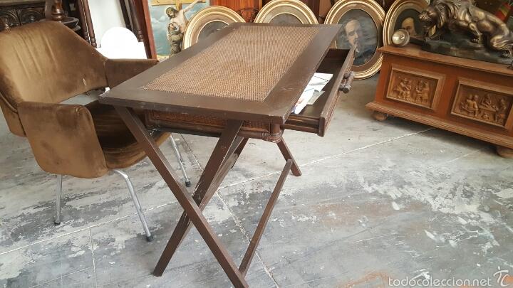 Mesa De Escritorio Plegable En Madera Y Ca A C Comprar