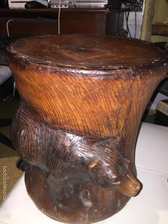 banco puff forrado de cuero repujado piel 100 x - Comprar Muebles ...