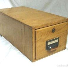 Vintage: ARCHIVADOR ROBLE AÑOS 50, VINTAGE. MED. 19 X 40 X 15 CM. Lote 61574516