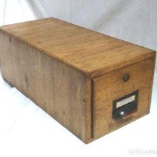 Vintage: ARCHIVADOR ROBLE AÑOS 50, VINTAGE. MED. 19 X 40 X 15 CM. Lote 61574548