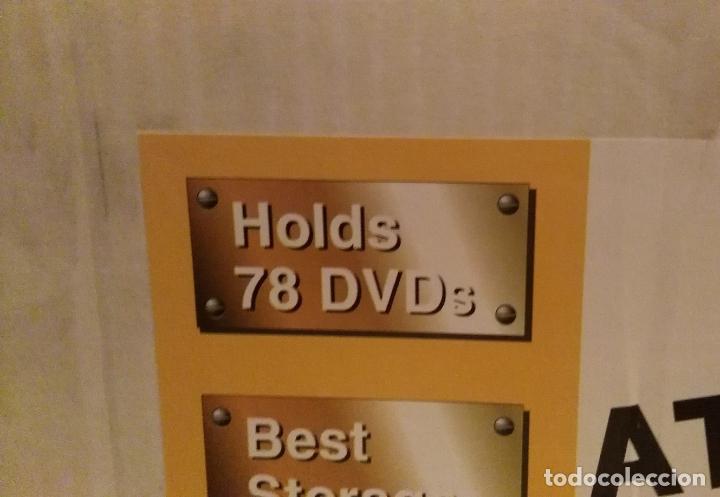 Vintage: 2 muebles- estanterias- GIRATORIOS para guardar DVDs, en madera - Foto 5 - 53848113
