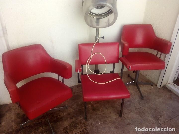 conjunto de tres sillones de peluquería años 60 - Comprar Muebles ...