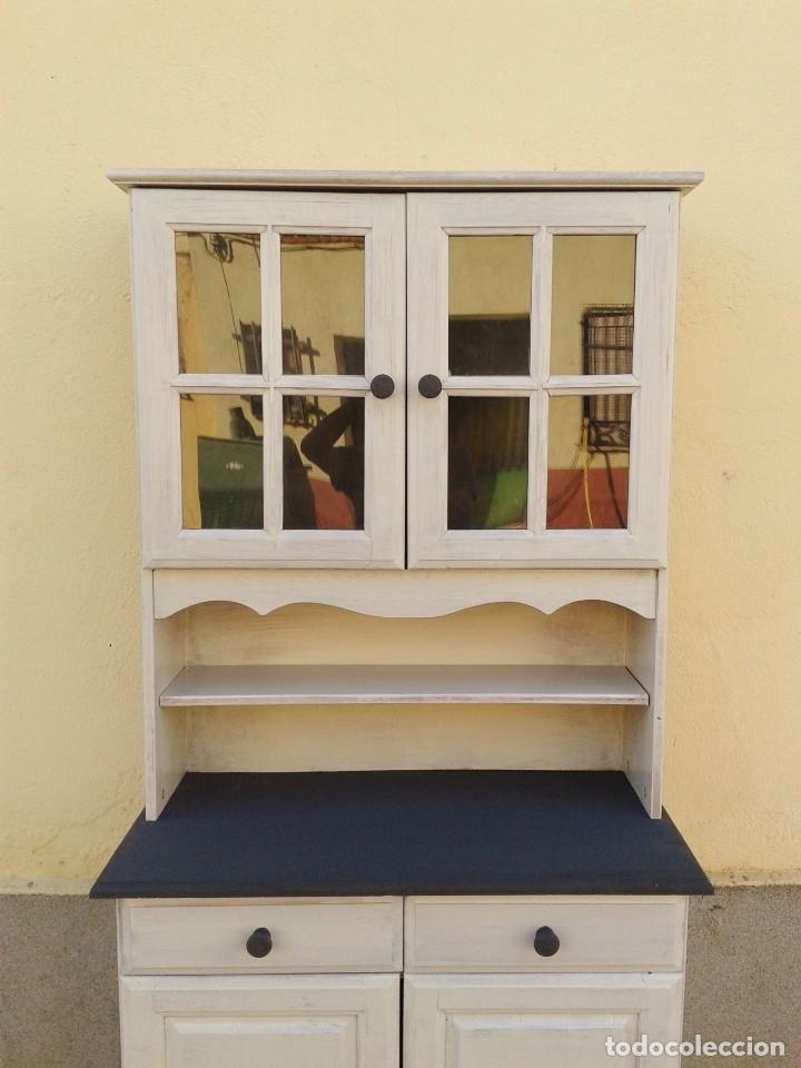 Armario Esquinero Blanco ~ mueble auxiliar con vitrina retro vintage, apar Comprar Muebles vintage en todocoleccion