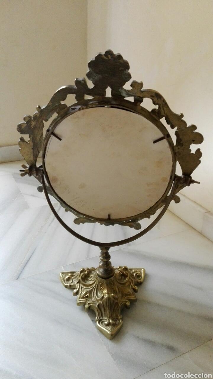 Vintage: Precioso espejo antiguo en bronce - Foto 2 - 62450722