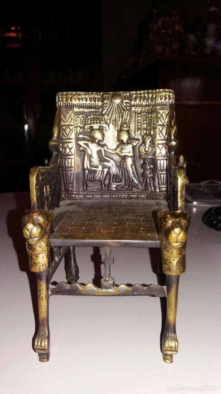 Antiguo Sillon O Trono Egipcio En Bronce Macizo Comprar Muebles  # Muebles Egipcios