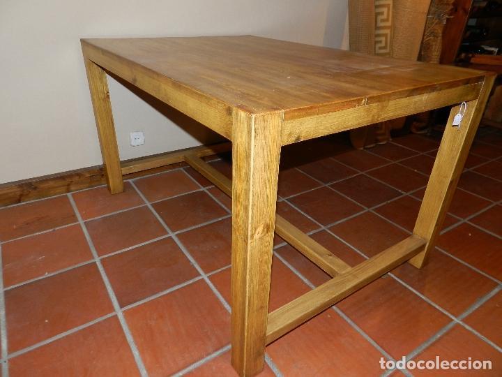 mesa de comedor con trabesaños inferiores en ma - Kaufen Vintage ...