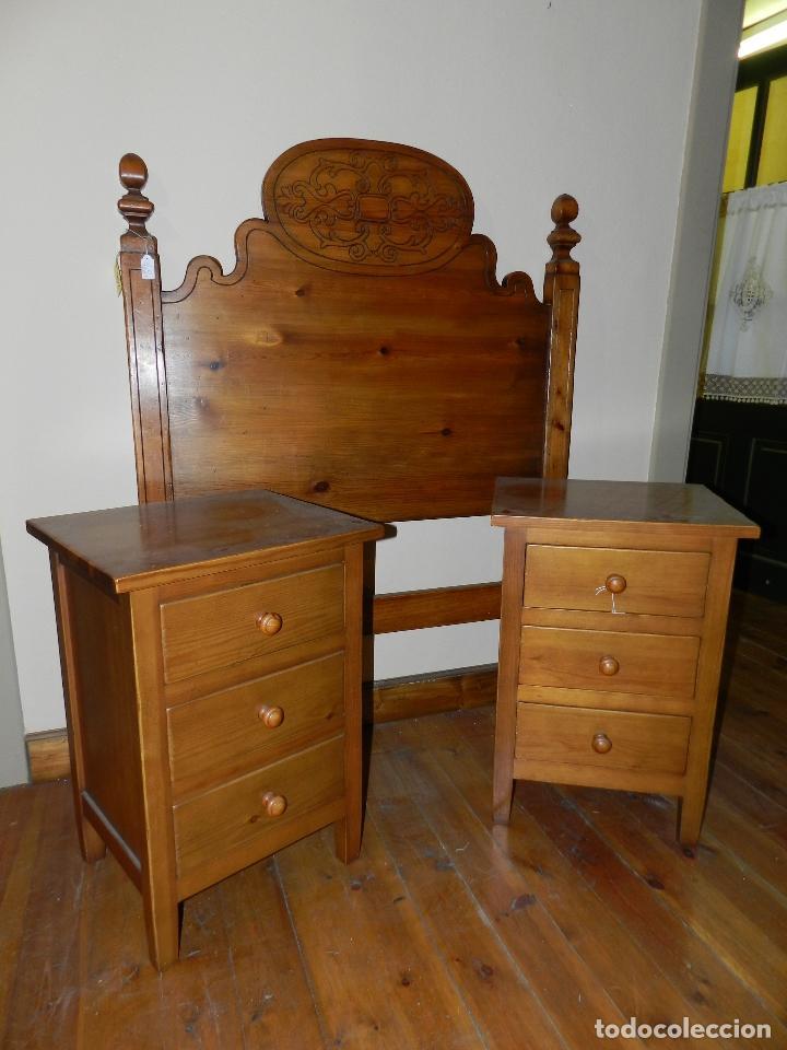 cabezal de cama en madera de pino envejecido - Comprar Muebles ...
