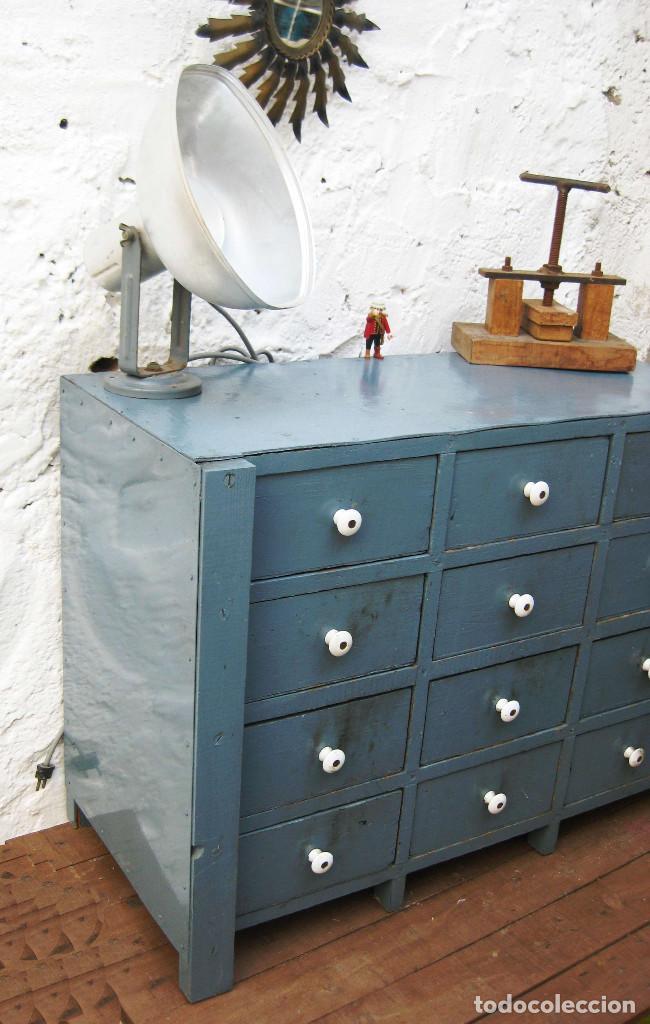 Precioso mueble vintage madera ideal decoracion comprar for Mueble vintage industrial