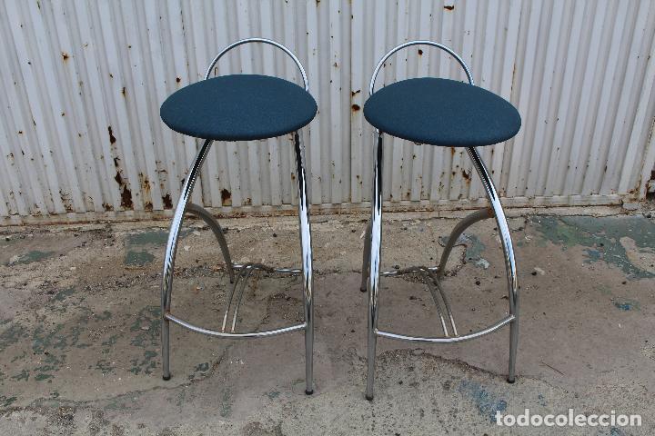 Vintage: 2 sillas taburetes años 70 - Foto 2 - 64200171