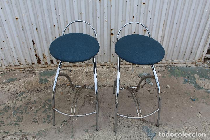 Vintage: 2 sillas taburetes años 70 - Foto 3 - 64200171