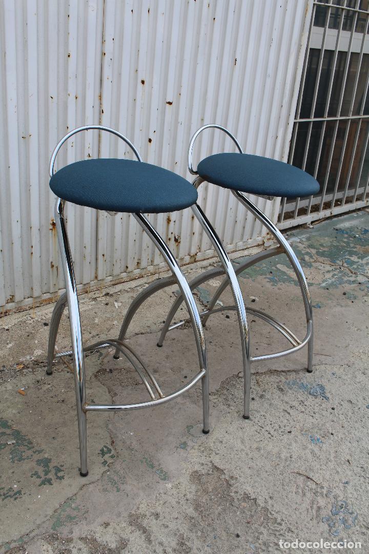 Vintage: 2 sillas taburetes años 70 - Foto 4 - 64200171
