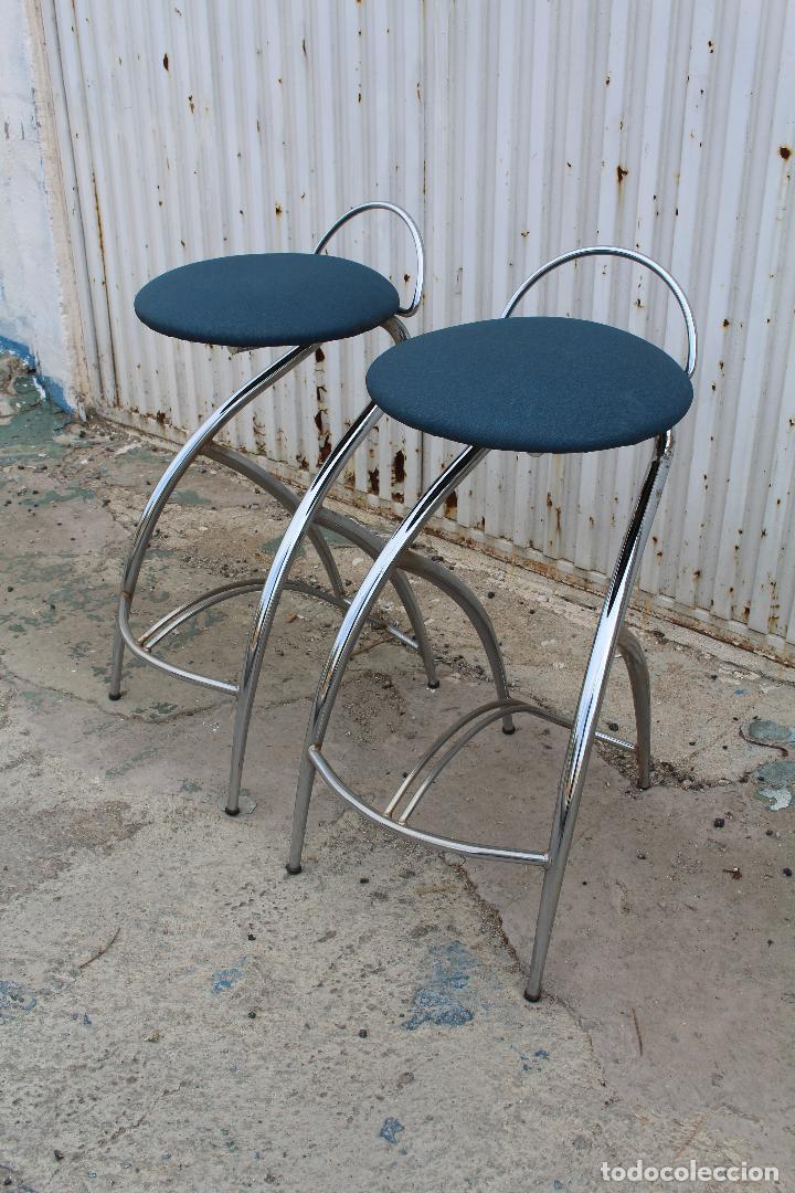 Vintage: 2 sillas taburetes años 70 - Foto 5 - 64200171