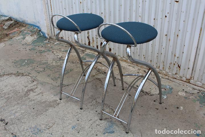 Vintage: 2 sillas taburetes años 70 - Foto 8 - 64200171