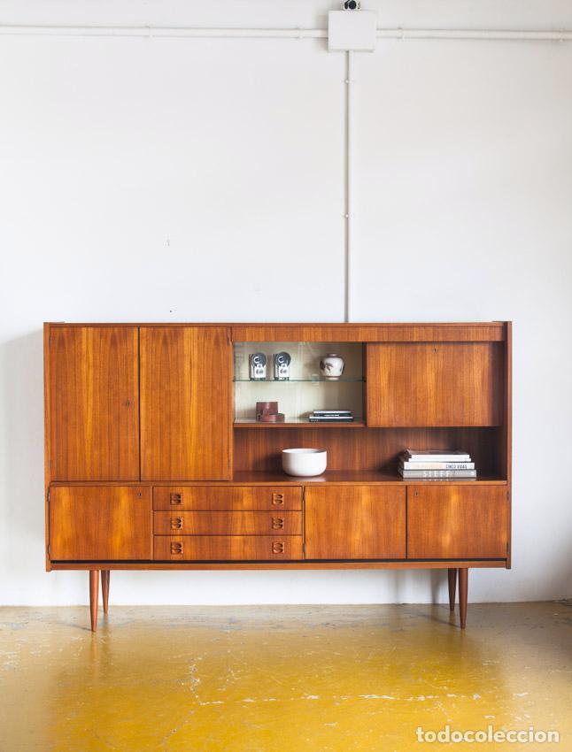 Aparador en madera de teca de dise o escandina comprar for Muebles diseno vintage